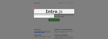 Beispiel Intro.js